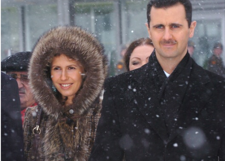 Al Assad and his wife, Asma, in Moscow in 2005. Photocredit: http://www.flickr.com/photos/byammar/2085667933/