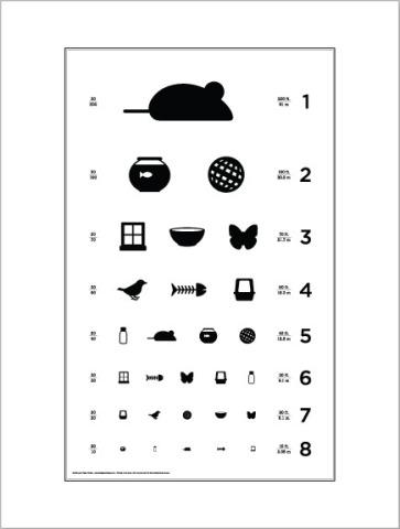 Cat Eye Chart by Local Paper Company