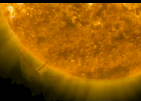 Giant spaceship seen next to sun! AGAIN! Er… well, not really