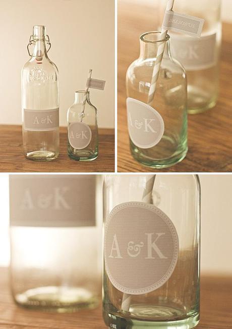 Wedding label DIY