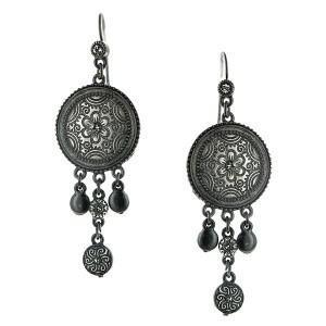 charcoal dangle earrings