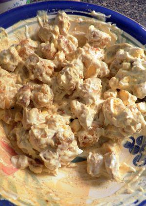 Curried Shrimp Devilled Eggs- Add mayo & sour cream