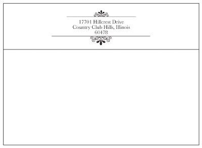 Your Wedding Envelope Return Address A Primer Paperblog