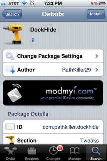 DockHide For iOS