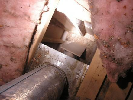 Huge Attic bypass around furnace vent