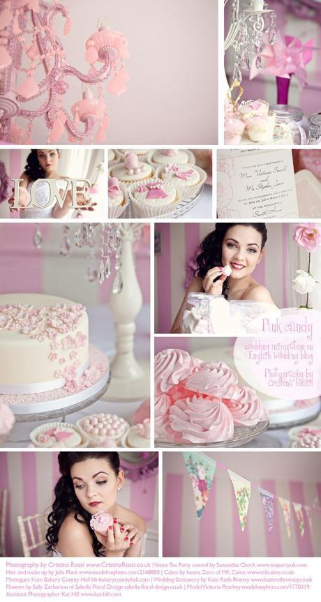Sweet candy pink wedding inspiration board