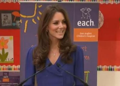 The Duchess of Cambridge fights nerves to deliver her first public speech