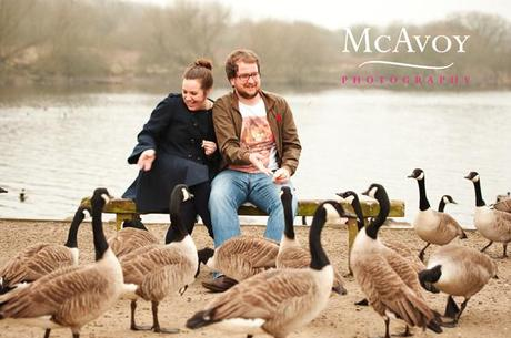 A romantic twilight engagement shoot with Erin and Mark