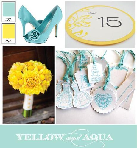 Wedding Color Inspiration: Aqua and Yellow