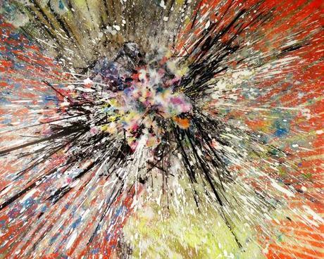 Modern abstract art, contemporay art, abstract art, explosions