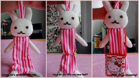 Spread L-o-v-e #3: A bunny long doll bag for Easter!