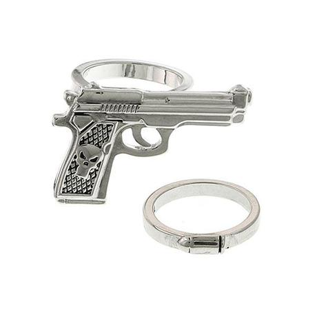 Punisher Gun and Bullet Ring