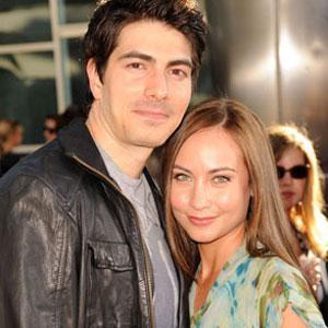 Courtney Ford with husband Brandon Routh