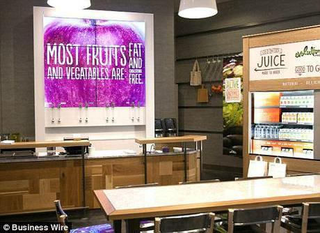 Evolution Fresh! Starbucks launches new juice bar, complete with 'interactive juice wall'