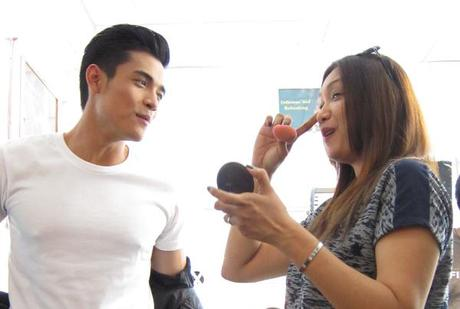 On Set with Xian Lim and Lala Flores – Watch my 2nd TVC airing, Globe SuperFB10