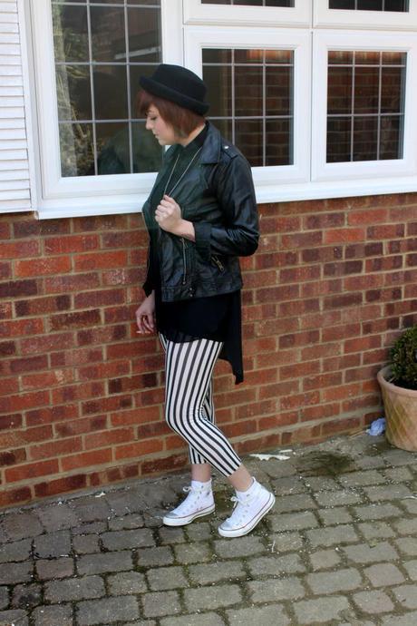 What Scarlett Wore - stripped leggings
