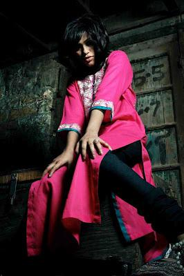 New Trend Poetry Painted Dresses Summer Collection 2012 by Ayesha Khurram