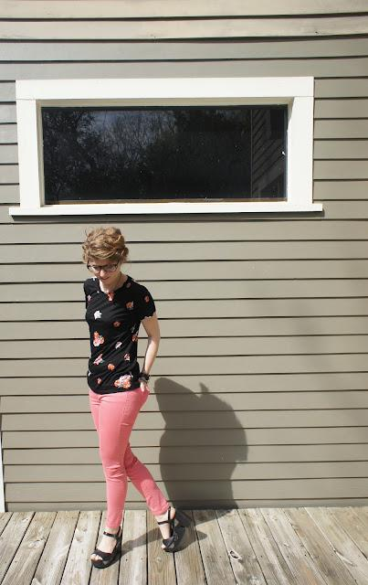 outfit post: floral and pinks