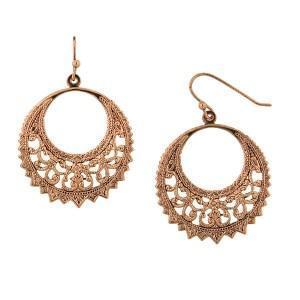 golden sun crescent hoop earrings