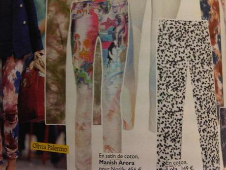 Manish Arora Jeans: on this summers wish list are these stunning printed jeans from one of my favourite designers, but at 500e a pop, I don't think I will manage to add them to my wardrobe.  Manish Arora Jeans as seen n this months Grazia Fr.