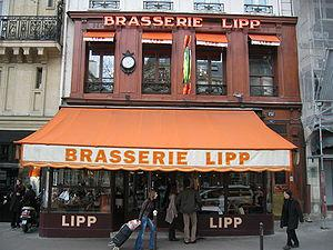 Learn French Language for a journey: Brasserie Lipp