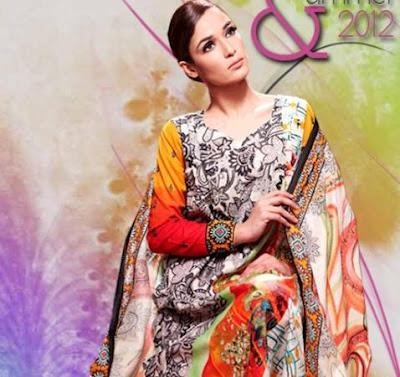 Moon Textiles Latest Summer Lawn Prints 2012