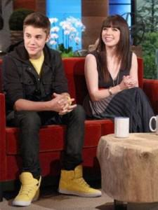 Justin Bieber and Carly Rae Jepsen on Ellen
