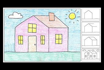 How To Draw A House Paperblog