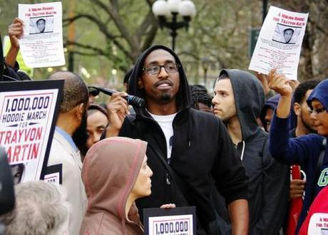 Demonstrators call for arrest of George Zimmerman over the death of 17-year-old Trayvon Martin in Florida