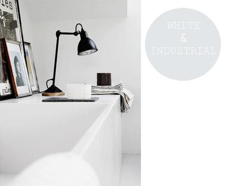 White bathroom with industrial details