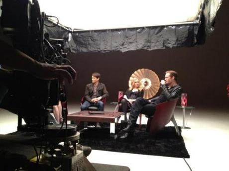 Behind The Scenes Photo From Promo Interview
