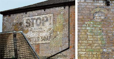 Stop! Don't Forgotten the Hustler Soap – a ghostsign in Harrow & Wealdstone