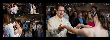 bride and groom having first dance at hogarths hotel