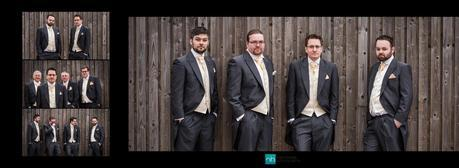 The groom and his ushers in a wedding photo at hogarths hotel