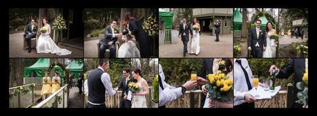 a couple being married at hogarths hotel