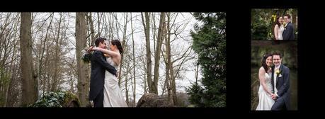 bride and groom on bridge at hogarths hotel