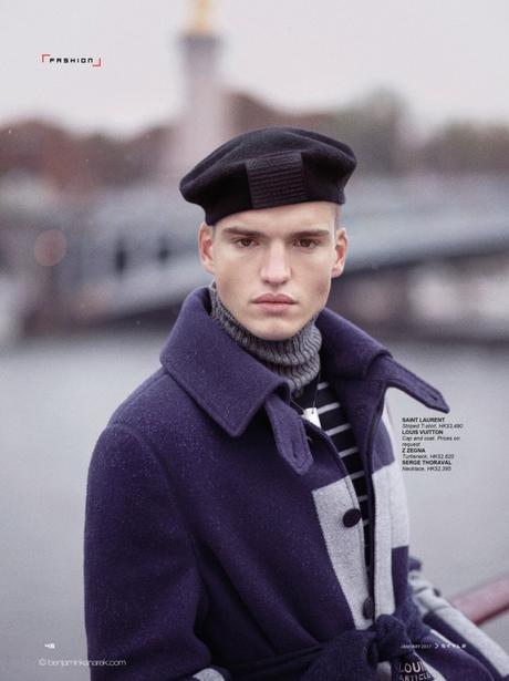 Jules Mas in Military Precision by Benjamin Kanarek for SCMP Style