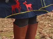 eShakti Deer Dress, Plaid Shawl, Adventures Forest