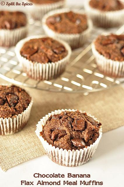 Chocolate Banana Flax Almond Meal Muffins #BreadBakers ...
