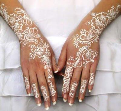 How To Look Stunning Bride White Henna Designs Ideas For Wedding Day