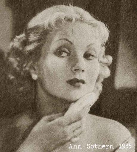 ann sothern applying foundation and powder 1935