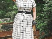 1940's Vintage Hat, Windowpane Check Dress, Facing Fears