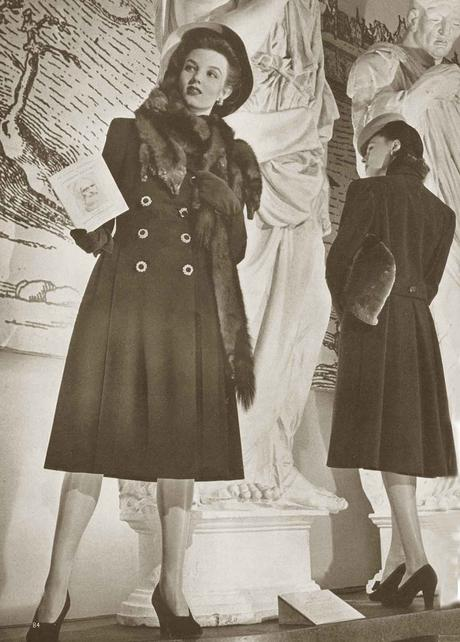 1940s-fashion---Winter-Coats-and-Dresses---Vogue-1940