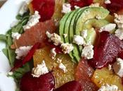 Citrus Arugula Salad with Shaved Beets Fresh Cheese