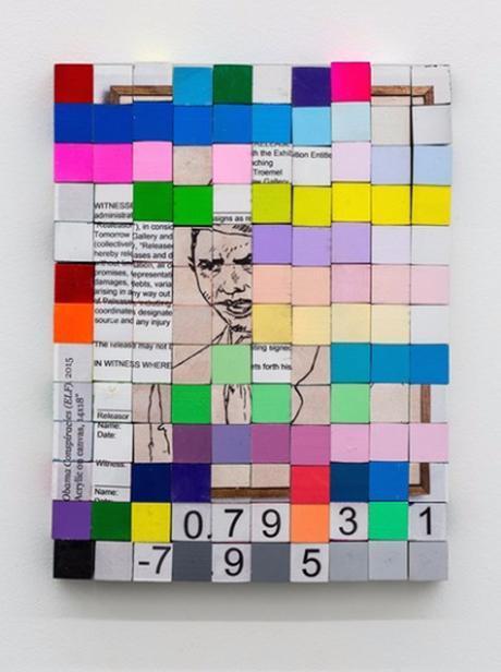Abstract Artwork Depicting Barack Obama