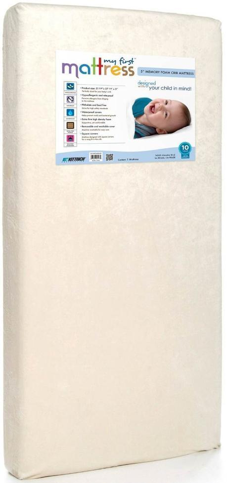 Best Baby Crib Mattresses My First Mattress Premium Memory Foam Infant Crib Mattress with Removable Waterproof Cover