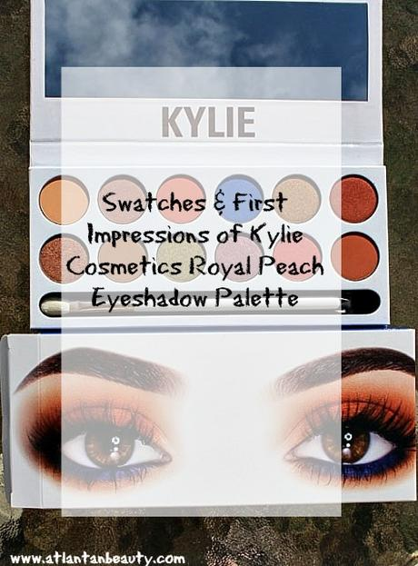 Kylie Cosmetics Royal Peach Palette Swatches And