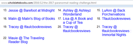 Paranormal Reading Challenge 2017