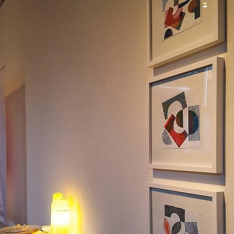 Framed Paper Stitching by Karin Lundström