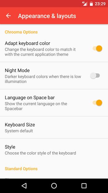 Chrooma Keyboard- screenshot